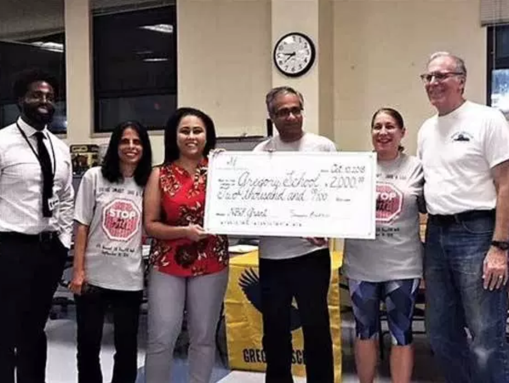 Badlani Foundation awards $2K grant to Gregory School