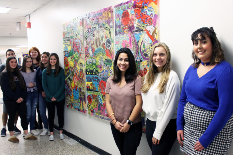 Indian Hills HS students unveil mural to warn teens of distracted driving consequences