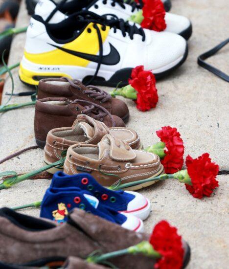 Empty shoes remember N.J. traffic crash victims