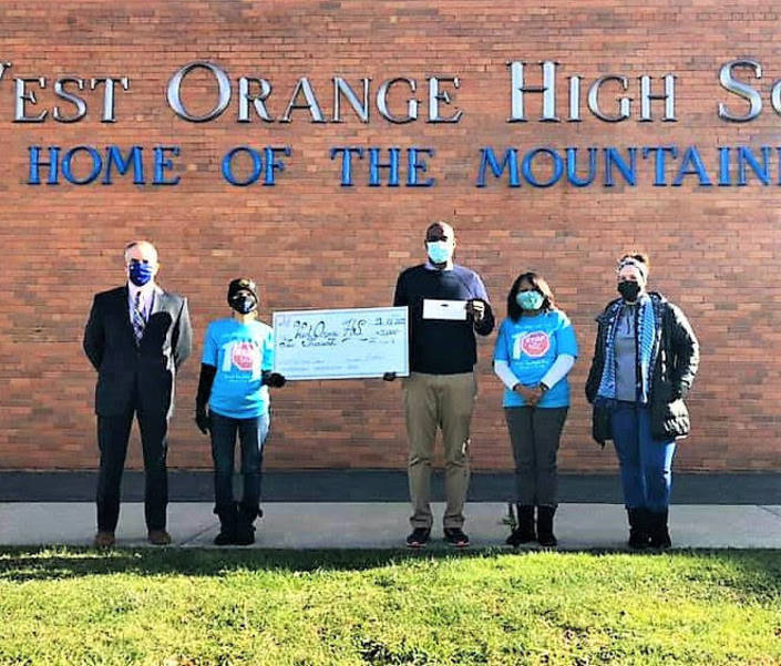 Nikhil Badlani Foundation Awards West Orange H.S. with $2,000 Grant
